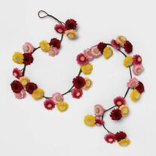 """OPALHOUSE Artificial Daisy Flower Garland Pink/Yellow/Red 