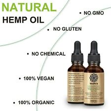 2x HIGH STRENGTH hemp oil Pain relief depression anxiety stress insomnia