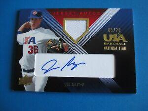 JOE KELLY - 2008 USA  BLUE Autographed Jersey card #/75
