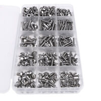 500 Pieces M3 M4 M5 Hex Socket Head Cap Screws Nuts Assortment Kit Box