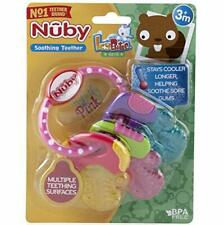 Nuby Teether Ice Gel Keys Baby Toddler Soft Teething Bite Toy Soothing Silicon