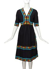 OSCAR DE LA RENTA-1960s Cotton Brocade Dress, Size-8