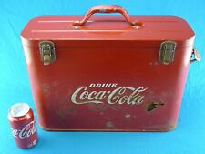 Vintage (1950's) Coca-Cola AIRLINE COOLER CHEST-  Very Rusty / For Restoration