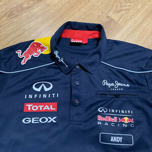 Red Bull Racing Pepe Jeans Functional Tee T-Shirt Size XL Adult