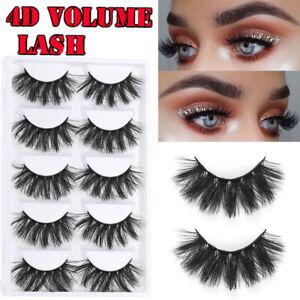 Tools 4D  Faux Mink Hair Full Volume Thick False Eyelashes Eye Lash Extension