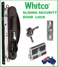 Whitco W865317 Sliding Security Screen Door Lock Leichhardt Black with Cylinder