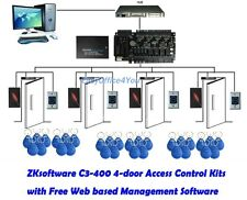 ZKSoftware C3-400 4 Door Office Access Control System Kits+4 Readers+Power Box