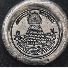 "1 Troy Oz  .999 Fine Silver MK BarZ Stamped  ""Illuminati"" Round"