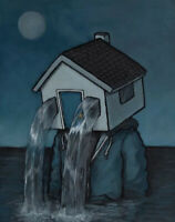 """""""Personal Space - Flooded"""" By Luke Chueh, Signed Print Limited To 100"""