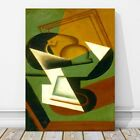 "JUAN GRIS Art - Dish of Fruit CANVAS PRINT 24x16"" - Cubist, Cubism, Abstract"