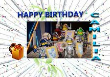 LEGO NEXO KNIGHTS    - Personalised Birthday Greeting Card A5 Friend / son / any