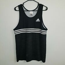 Vtg Adidas 3 Stripe Black And White Basketball Jersey Medium