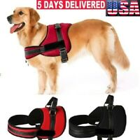 New Control Large Dog Pulling Harness Adjustable Support Pet Pitbull Training US