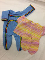 Vintage Cabbage Patch Doll Clothing Lot Blue Tracksuit 1985 Sweater Leggings