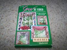 WAVERLY Sew-by-Video SWAGS JABOTS & SCARFS Butterick 941/5480 UNCUT
