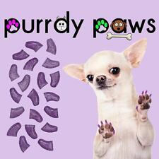 Purple Glitter Jumbo Size Soft Nail Caps For Dog Claws * Purrdy Paws * XXXL