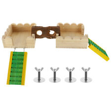 New listing 5Pcs Hamster Toys Hideout Small Wood Ladder Cage Toy Tunnel