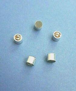 5 x OMNI DIRECTIONAL MINI ELECTRET CONDENSER MICROPHONE CAPSULE  6mm DIAMETER