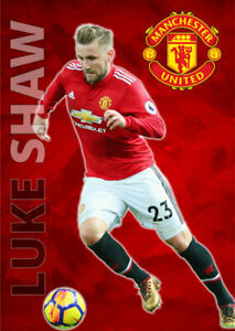 Luke Shaw Poster Manchester United FC Football Wall Art A3 and A4