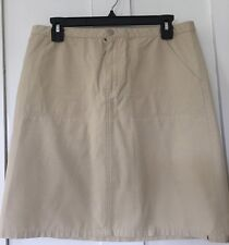 Tommy Hilfiger Jeans Khaki Cargo Skirt, Size 10, ECU