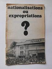 Nationalisations ou Expropriations RENAULT Ligue Communiste