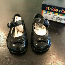 NIB Stride Right - Christine - Black Patent Mary Janes Toddler Girls Shoes Sz 3