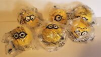 McDonalds Happy Meal Lot of 6 Minion Toys Stocking Stuffer Christmas New Sealed