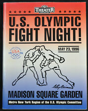 1996 MADISON SQUARE GARDEN BOXING PROGRAM SIGNED BY JOE FRAZIER + MORE VF