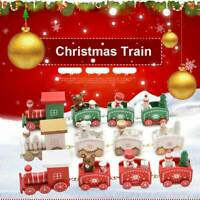 Christmas Wooden Little Train Decoration Xmas Festival Gifts Toys Cute Creative
