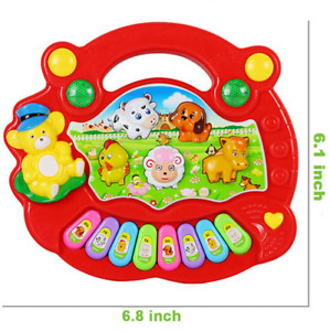1 Year Old Baby Piano Light Up Animal Musical Toys Infant Kids Learning Toys