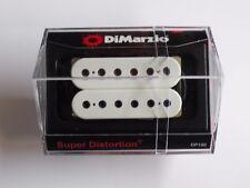 DiMarzio Regular Spaced Super Distortion Bridge White W/Black Poles DP 100