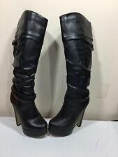 Ladies size 6.5 black fashion boots