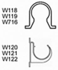 Cazador Blanco residuos W120 de 32 mm abierto Soporte