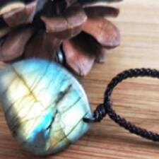 Natural Labradorite Pendant Natural Crystal Pendant Necklace Healing Stone A