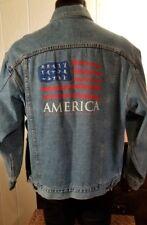 USA FLAG OLYMPICS 1996 Atlanta Identity Vintage Denim Jacket Hong Kong Sz 2XL