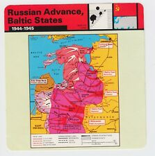 Military facts 1944 - 45 Card Russian Advance Baltic States