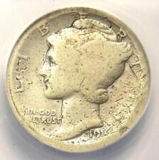 1916-D Mercury Dime 10C Coin - Certified ANACS G4 Detail (Good) - Rare Date Coin