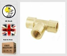 """1/8"""" Female Thread T Tee Shaped Equal Coupling Brass UK SELLER"""