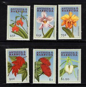 Antigua #2342-47 (2000 Flowers set)  VFMNH  CV $3.50