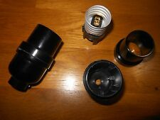 New Black Keyless On/Off Phen Lamp Socket By ADL American Derosa Model # D37