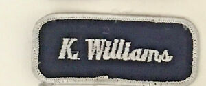 K. Williams name tag patch