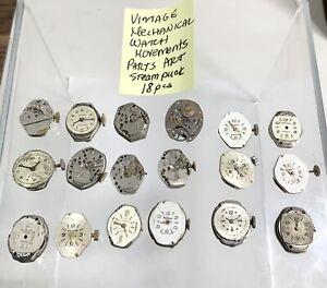 Vintage Mechanical Watch Movments Paarts Art Stempunk
