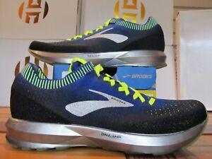 NEW Brooks Levitate 2 $150 Black Blue Neon Green Volt Silver 9.5 Running Shoes
