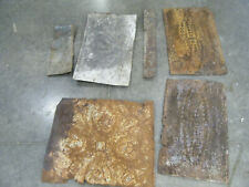 Lot of 6 Antique Tin Ceiling Tile Panel Odd Size Architectural Reclaimed Salvage