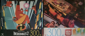 The Incredibles 2 & Ralph Breaks The Internet Each 300Pc Puzzles (Lot of 2)