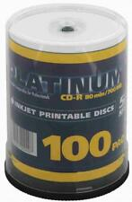 100 Platinum Rohlinge CD-R full printable 80Min 700MB 52x Spindel