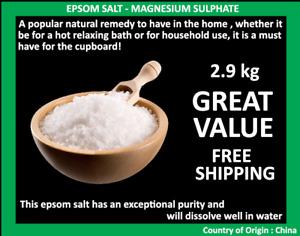 Epsom Salt Magnesium Sulphate 2.9kg Bath Salt