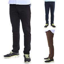 Markenlose unifarbene Herrenhosen aus Baumwolle mit mittlerer Bundhöhe