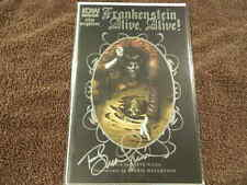 2018 IDW Comics FRANKENSTEIN ALIVE, ALIVE! #1 Signed By BERNIE WRIGHTSON - NM/MT