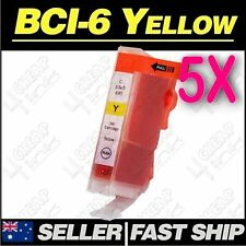 5x Yellow Ink for Canon BCI-3eY 6Y BJC3000 BJC6000 BJC6200 BJC6500 i550 i560 i85
